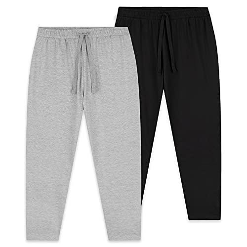 CityComfort Pantalones Largos de Pijama, Pack de 2 Pantalones Hombre De Algodón, Ropa Hombre M -...