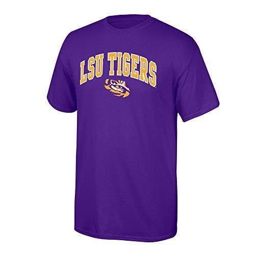 Elite Fan Shop Lsu Tigers Men's T Shirt Team Color Arch, Large