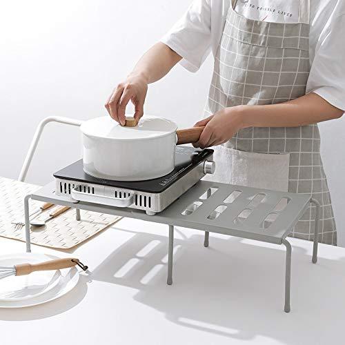 Caigaodz Organizador de Maquillaje Soporte de Almacenamiento de plástico Plataforma telescópica bajo el Fregadero Titular Capa de Dish Tendedero Utensilios de Cocina gabinete de Especias Organizador