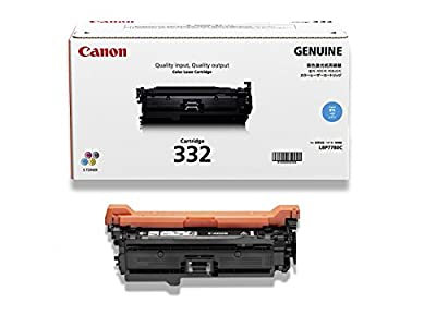 Canon Genuine Toner, Cartridge 332 Cyan (6262B012), 1 Pack, for Canon Color imageCLASS LBP7780Cdn Laser Printer