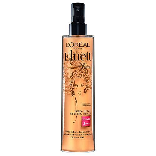 L'Oréal Paris Elnett Haarspray für voluminöse Haare, Hitzeschutz & Styling, Anti-Frizz, Hitze Styling-Spray 3 Tage Volumen, 1 x 170 ml