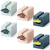 Miltie Toothpaste Squeezer Presse Tube Dentifrice Support Tube Dentifrice Empêcher le Gaspillage pour Cosmétiques Crème Lotions Dentifrice Facile à Utiliser et Durable 3 Schéma de couleur 6 Pièces
