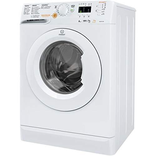 Lave linge sechant Hublot Indesit XWDA751480XWFR1 - Lave linge Frontal séchant - Pose libre - capacité : 7 Kg - Vitesse d'essorage maxi 1400 tr/min - Classe A