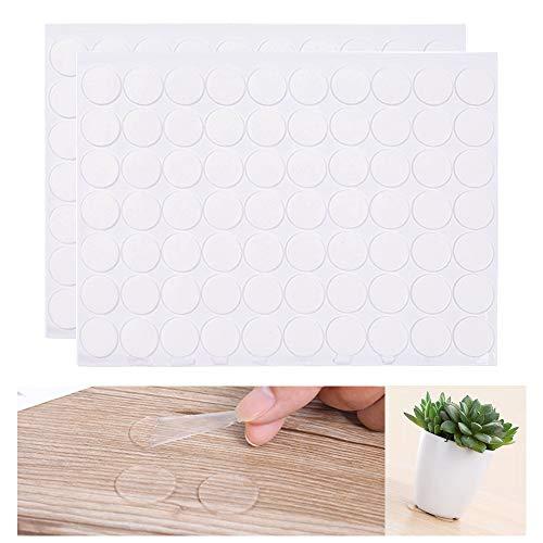 Vankra Lot de 140 tampons adhésifs double face en acrylique ronds sans traces Transparent