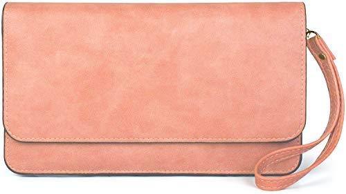 styleBREAKER Damen Clutch mit Überschlag und Trageschlaufe, Abendtasche, Portemonnaie 02012259,...