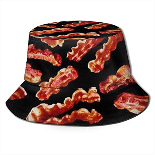 Sun Hat Bacon Bucket Cap UV Sun Protection Fisherman's Hat Foldable Lightweight Breathable Outdoor Travel Cap Black