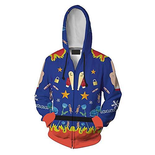 Amatop Selbstmordkommando Cosplay Kostüm Harley Quinn Kostüm Hoodie Unisex Halloween Hoodie Film Cartoon Lässige Sweatshirt Pullover Trainingsanzug Zip-up Jacke