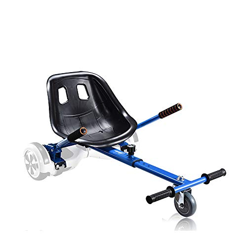 Go Kart Hoverboard Seat Attachment Accessories Hover Board Cart for Adults Kids Self Balancing Scooter Compatible with 6.5'' 8'' 10'' Adjustable Seat Frame, Blue
