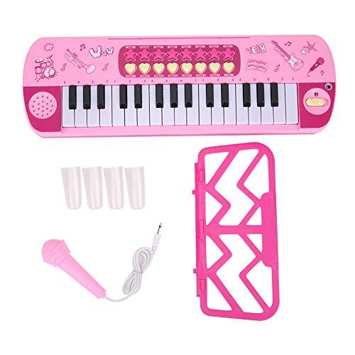 iFCOW Piano eléctrico infantil con micrófono, teclado digital instrumento de música para...