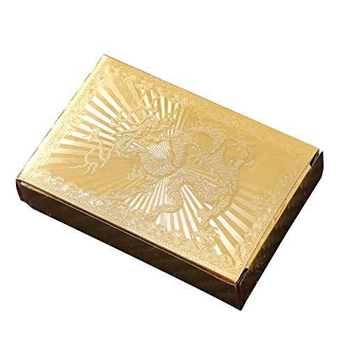 Dasorende Wasserdichtes Poker Set Deck Gold Folie Spiel Karten Brett Spiel Magische Karten Geschenk