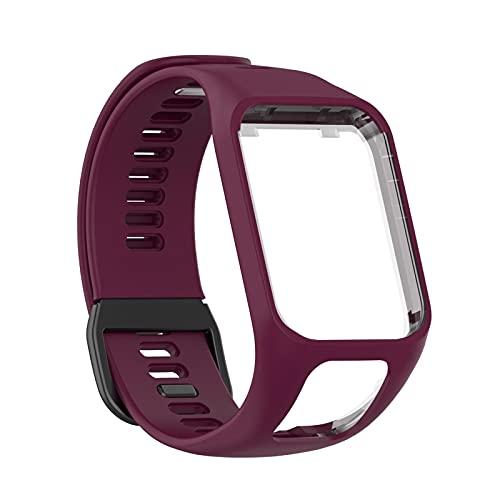 Naduew Cinturino Compatibile per Tom Tom Runner 2 Runner 3 Spark 3 Golfer 2 Adventurer GPS Orologio Series - (12 Colori) Cinturini in Silicon,Multisport Smartwatch Band Accessori