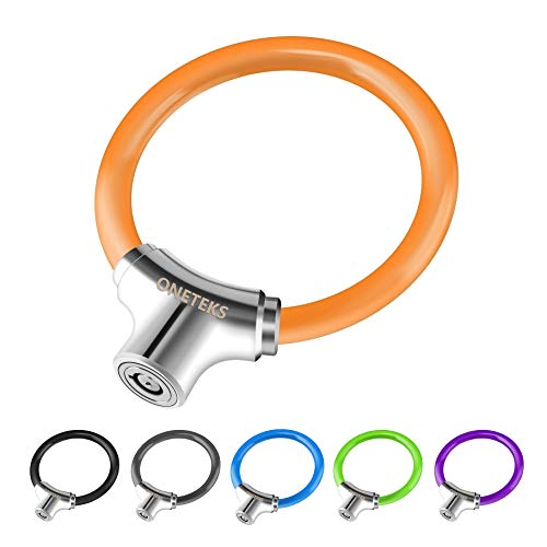 ONETEKS Portable Bicycle Lock Ring Lock Anti-Theft High Security, Suitable for Mountain Bikes, Road Bikes, Commuter, Children's Bikes