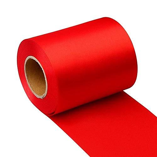 Yuanzi Ruban de Satin, 22m Ruban Solide Rouleau Ruban Tissu Décoration pour Mariage/Fete/Emballage Cadeau/Artisanat (Rouge)