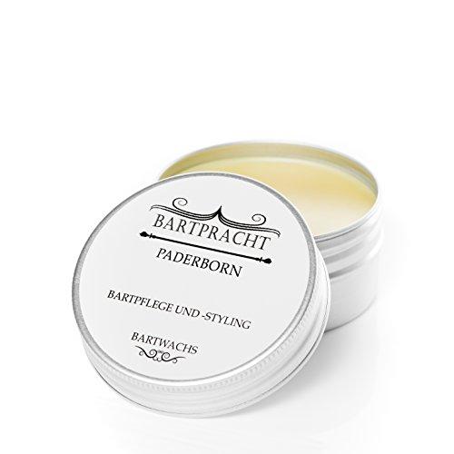 Bartpracht Bartwachs Paderborn (Patchouli), Wachs für das Bartstyling, extra starker Halt, Naturprodukt (100{0d158be5d50f3c103d8e6473daa015a42f25483c15e0edafc09c471e76d82173} natürlich), Made in Germany, 1 Stück