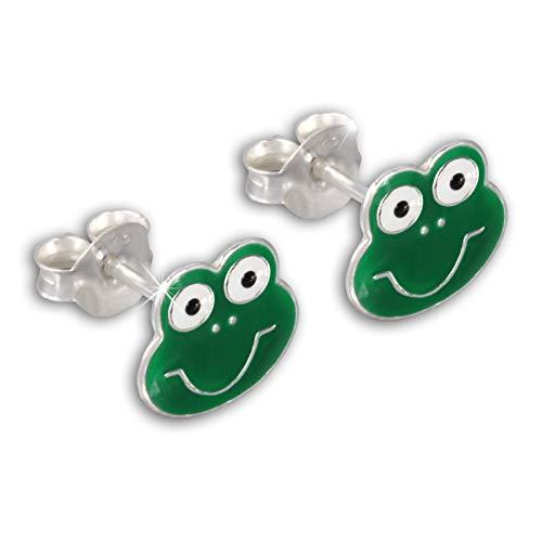 Teenie-Weenie Ohrstecker grün Ohrringe Sterlingsilber Frosch Kinder D1SDO8111G