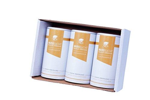 Geschenkbox Oktoberfest Gebrannte Mandeln Bundel | Handgemachte karamell Nüsse | 3x250g Vorteilspack Gebrannte Mandeln
