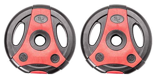 Bad Company K-Grip Hantelscheiben mit Griffen I Kunststoff ummantelte Gewichte 30/31 mm I 2 x 2,5 kg