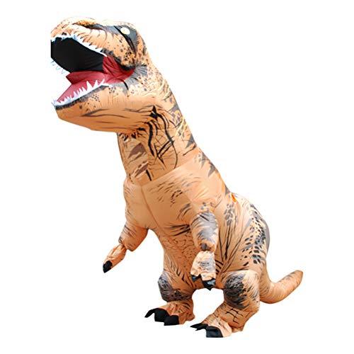 LIDIWEE Aufblasbares Kostüm T-Rex Dinosaurier Gesicht Enthüllendes Design für Halloween Festival Fasching Karneval, Erwachsene