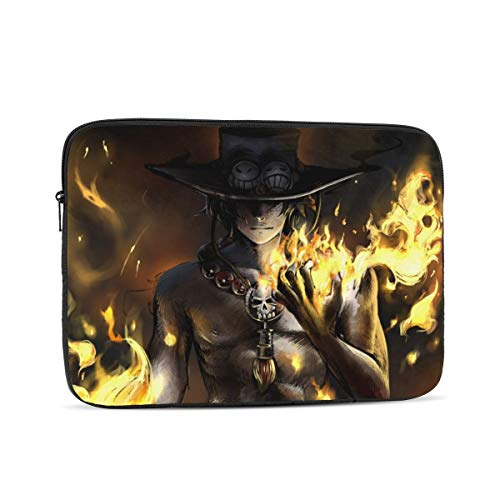 EWRVSXZ Anime One Piece Ace Laptop Case Sleeve Notebook Computer Bag Pocket Tablet Briefcase Multiple Sizes 15 Inch