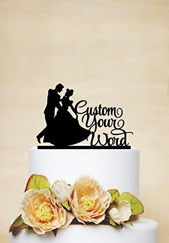 Cenicienta y príncipe decoración de tartas de boda decoración de tartas princesa y princesa Disney boda C231