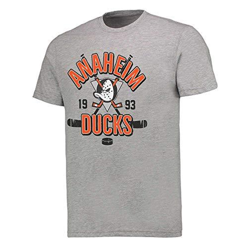 Fanatics Anaheim Ducks Crossed Sticks Hometown NHL T-Shirt Grau, L