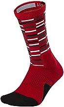 Nike Men's Elite Cushioned Crew Socks Red/White/Black/Grey SX7010-657 (SM (4-6 Big Kid, Women's Shoe 4-6))