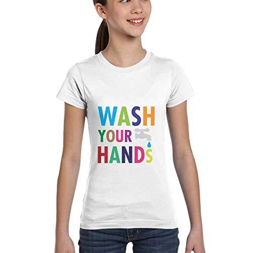 wenchongmaoyi Coro-navi-rus Colored Print Kids Round Neck Shirt Girls T Shirts Teen T Shirts Girl Size 12