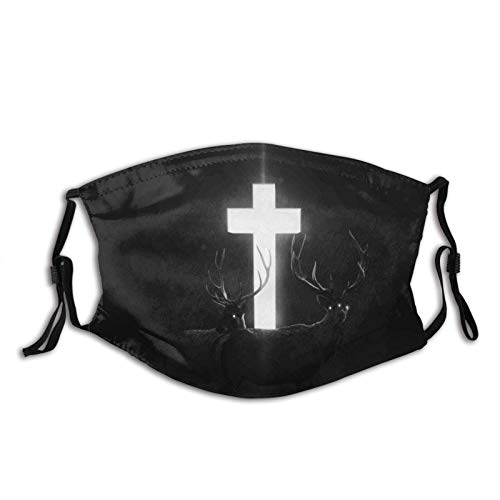 Dark Cross Jesus Cross-Face Cover Washable Reusable, Balaclava with Filters, for Men Women Adult Teens