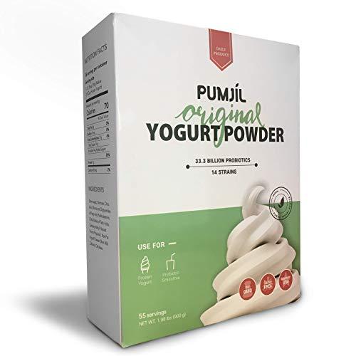 Soft Serve ice Cream Mix, Pumjil Probiotic Soft Serve Mix for Frozen Yogurt and Smoothies, Original Flavour (55 Servings per Box)