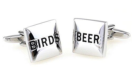 Ashton en Finch Vogels en Bier Manchetknopen in een gratis Presentatie Box. Novelty Drink Stag Party Leuke Thema Sieraden
