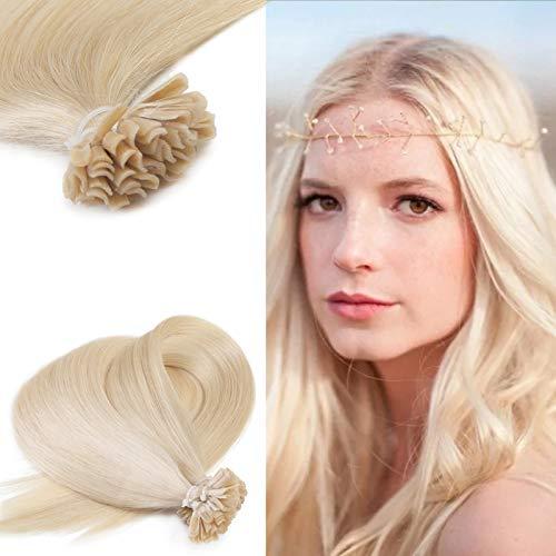 "Neitsi 20"" 25s/lot 1g/s Natural Blonde 100% Remy Human Hair Nail U Tip Hair Extension (24#)"