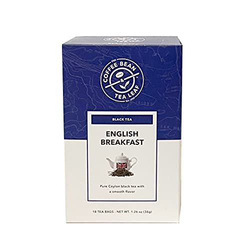 The Coffee Bean & Tea Leaf English Breakfast Black Tea, Whole Leaf Tea Bags, 18 Count Box