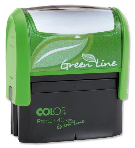 Colop Printer 40 Green Line Stempel individualisierbar selbstfärbend 6 Zeilen Textdruckgröße 58x22mm
