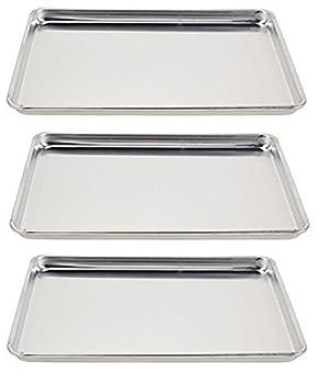 Vollrath 5303 Wear-Ever Half-Size Sheet Pans Set of 3  18-Inch x 13-Inch Aluminum