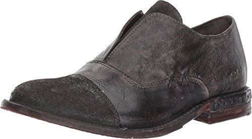 Bed|Stu Rose Women's Loafer - Distressed Leather Slip-On Loafers for Women - Graphito Dip Dye