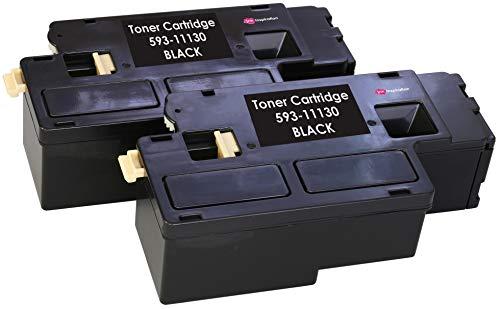 2 Schwarz Premium Toner kompatibel für Dell C1660, C1660W, C1660DW, C1660CN, C1660CNW | 1.250 Seiten