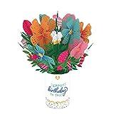 Lovepop Birthday Flower Bouquet - 3D Card, Birthday Bouquet, Flower Bouquet Card, Pop Up Bouquet, Floral Birthday Card, Pop Up Birthday Card