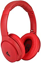 XINWU 801 Active Noise Cancelling Bluetooth Headphone w/Soft Protein Earmuff, Stereo Surround Sound, Built-in Mic, Wired Mode, 20h Long Battery Life Fodable Lightweight Over Ear (Red)