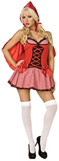 Sexy Little Red Riding Hood 2pc Women Costume, Red
