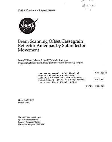 Beam scanning offset Cassegrain reflector antennas by subreflector movement (English Edition)