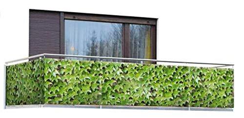 WENKO Sichtschutz Wilder Wein 5 m - für Balkon und Terrasse, Polyethylen, 85 x 500 cm, Mehrfarbig