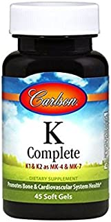 Carlson Labs K-Complete Soft Gels, 45 Count