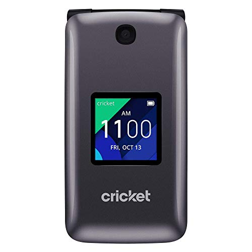 Alcatel QUICKFLIP 4044C | 4G LTE | HD Voice FlipPhone | Cricket Unlocked for T-Mobile (Not- AT&T)
