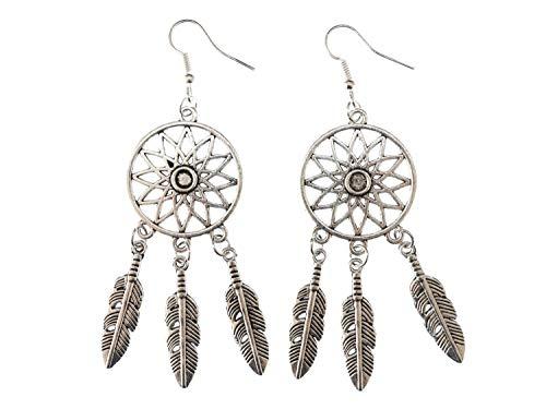 Traumfänger Ohrringe Miniblings Hänger Traum Träume Spirituell Indianer Boho