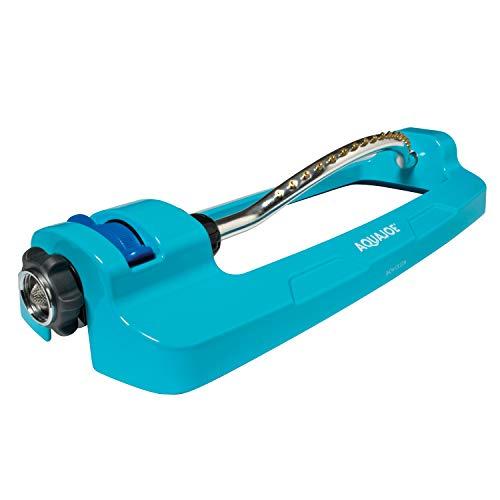 Aqua Joe AJ-OMS18-BRS Indestructible 4295 Sq Ft 18 Hole Oscillating Sprinkler, Built-in Clean-Out Tool