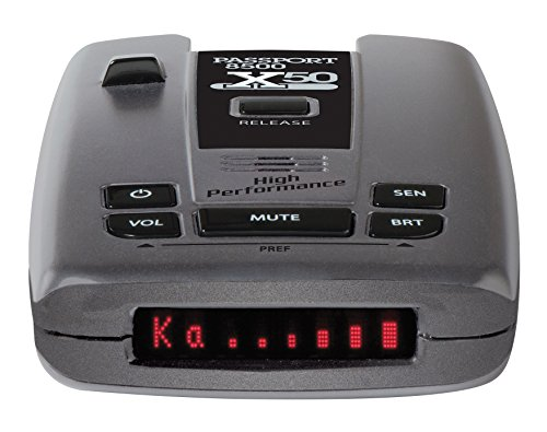 Escort Passport 8500x50 Radar Detector (Black), Red Display, SmartCord USB Included, Sensitivity Control