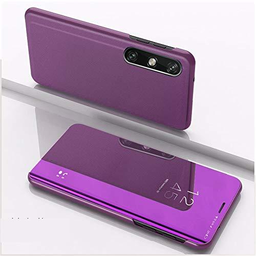 XYX Capa flip ultrafina, transparente, S-View, espelhada, proteção total, para LG Velvet/LG Velvet 5G
