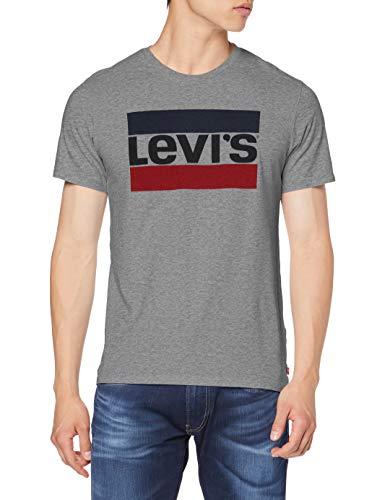 Levi's Graphic Maglietta, 84 Sportswear Logo Grey Midtone Grey Htr, S Uomo