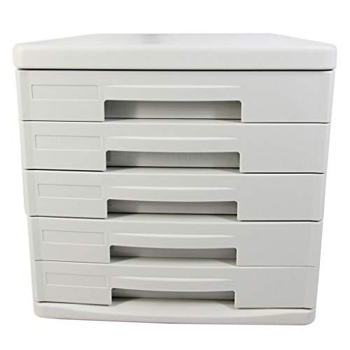 Bestand Kasten Filing kasten voor thuis 5 Lade Desktop Data Opslag Opbergdoos Gray26.5X34.4X24.9cm Home Office Meubels