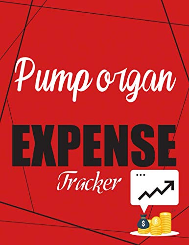 Pump organ Expense Tracker: Financial Planning Journal, Monthly Budgeting Notebook, 120 Pages, 8.5 x 11,Red Black, Checklist Organizer Goals and ... Simple Money Management Ledger Notebook